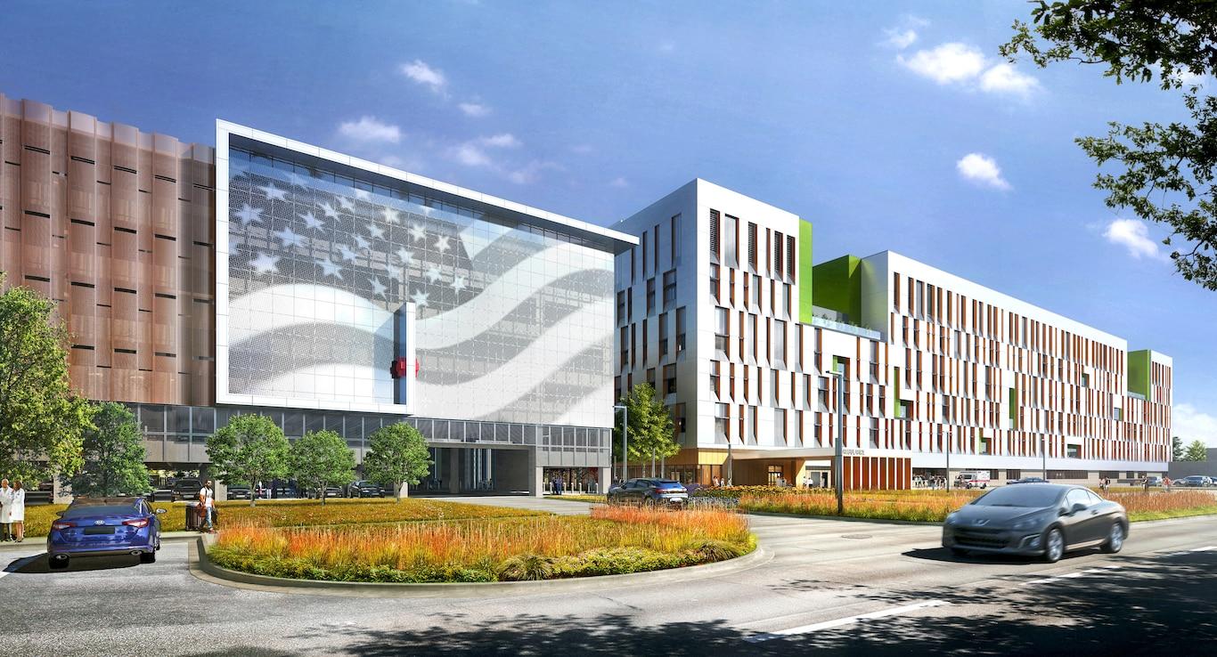 Rendering of VA Hospital in Louisville
