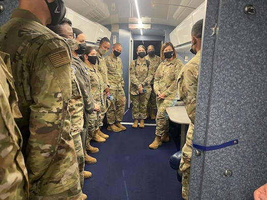 Group is briefed on VC-135E.