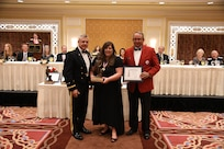 Ms. Jackie Sexton, former Salt Lake Chamber vice president of events and programs, receives the Bronze Minuteman award