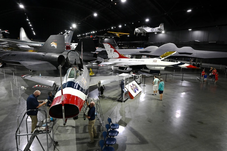 Air Force Museum aircraft F-100D.