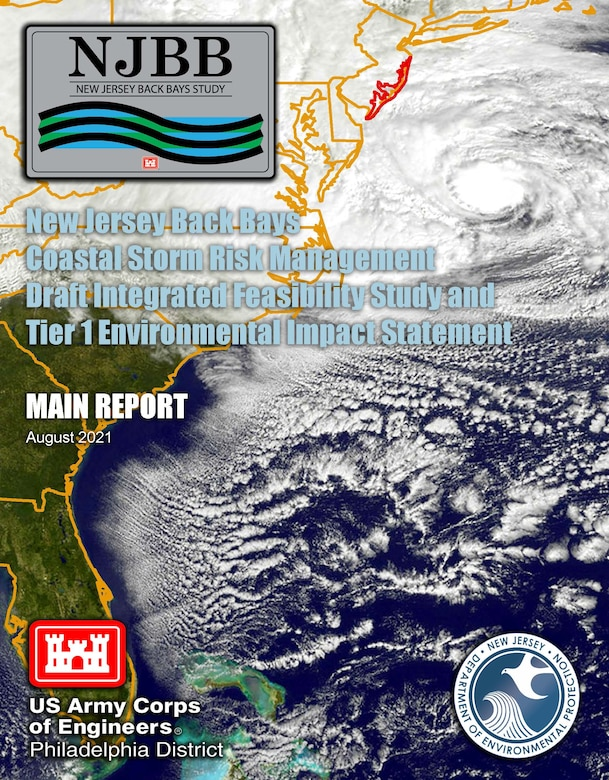Report cover shows satellite image of Hurricane Sandy