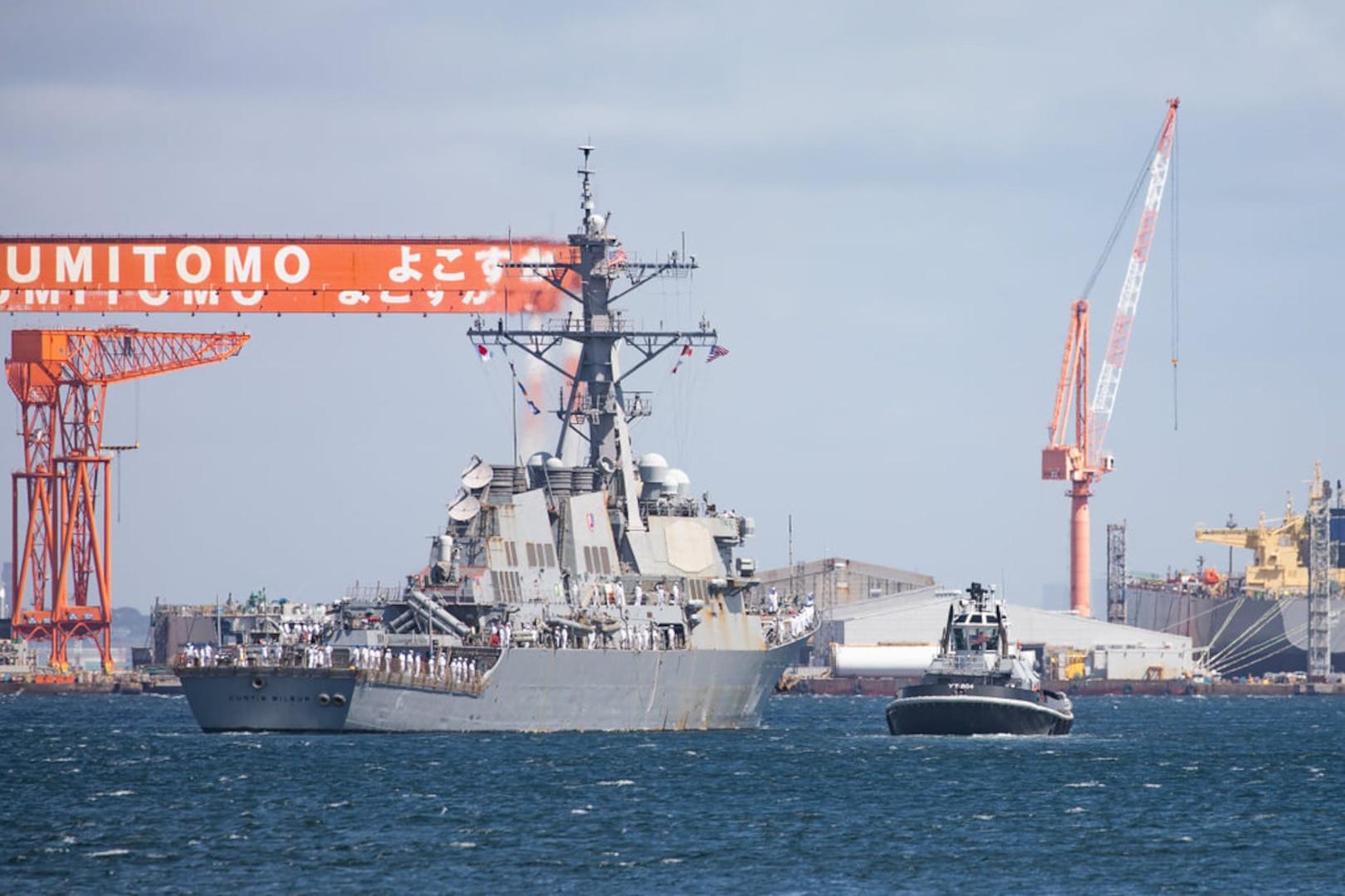 USS Curtis Wilbur departs Yokosuka, Japan after 25 years in U.S. 7th Fleet