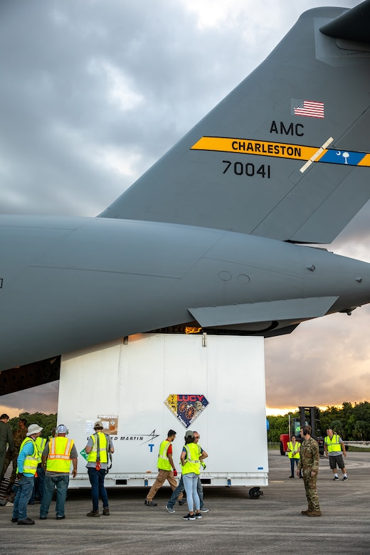 Lucy offload from C-17