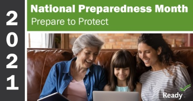 Graphic for National Preparedness Month 2021.