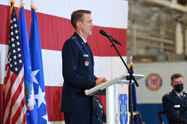 Air Force Sustainment Center's change of command ceremony at Tinker Air Force Base, Oklahoma, Aug. 17, 2021.
