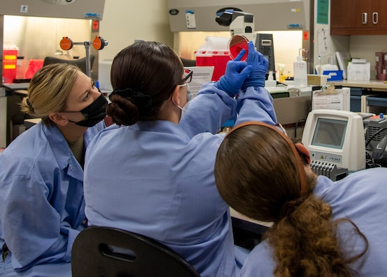 The WHASC's clinical laboratory tests over three million samples each year in support of 715 providers.