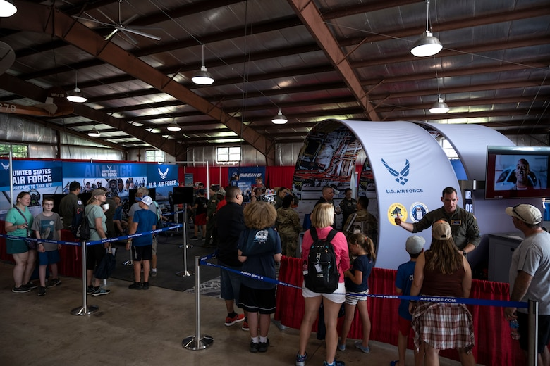 Photo of the crowd at the Experimental Aircraft Association (EAA) AirVenture Air Show July 26, 2021 in Oshkosh, Wi.,