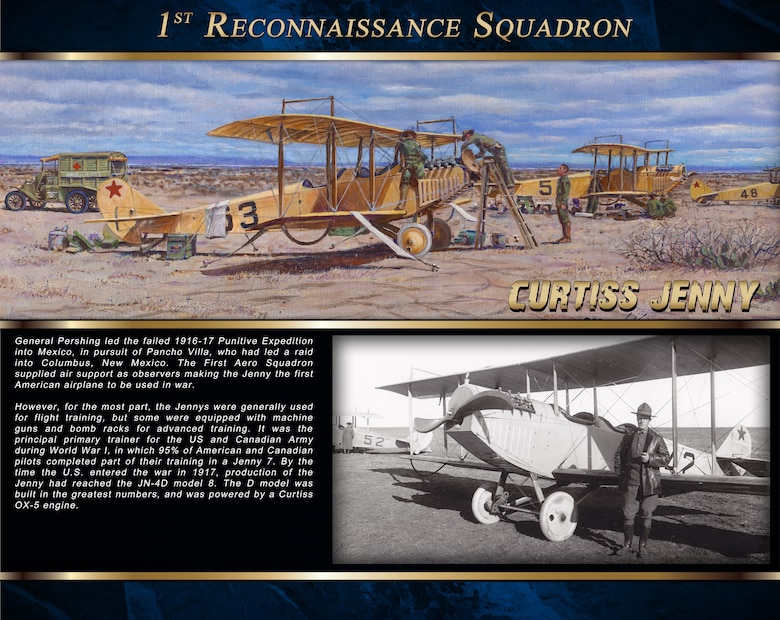 The Curtiss Jenny was the first American airplane to be used in war.