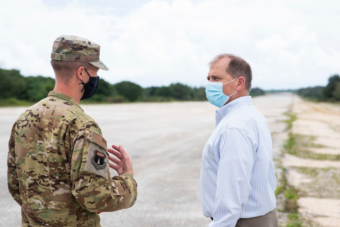 Representative Kahele and Delegate Staffer Winkler visit Andersen as part of an island-wide tour of the military operations