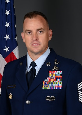The official photo of the 31st Fighter Wing Command Chief