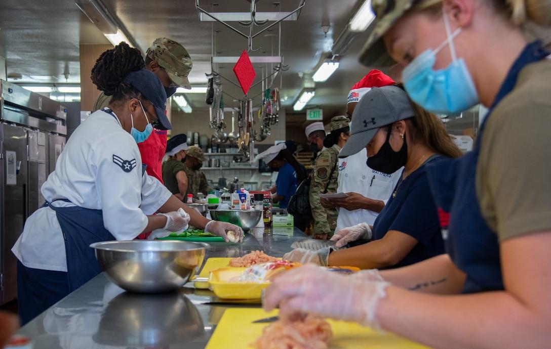 Airmen cooking