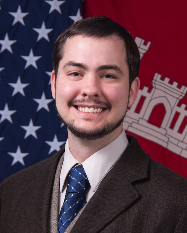 Austin Davis, now of the U.S. Army Engineer Research and Development Center's (ERDC) Geospatial Research Laboratory, was part of an ERDC Environmental Laboratory Environmental Systems Branch team that developed an electronic collimator invention that detects gamma radiation, a penetrating form of electromagnetic radiation arising from the radioactive decay of atomic nuclei. The invention enables the warfighter with a detector capable of directional detection without the use of shielding. (U.S. Army Corps of Engineers photo)