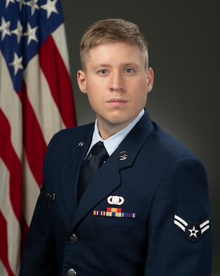 Official photo of A1C Andrew Compton
