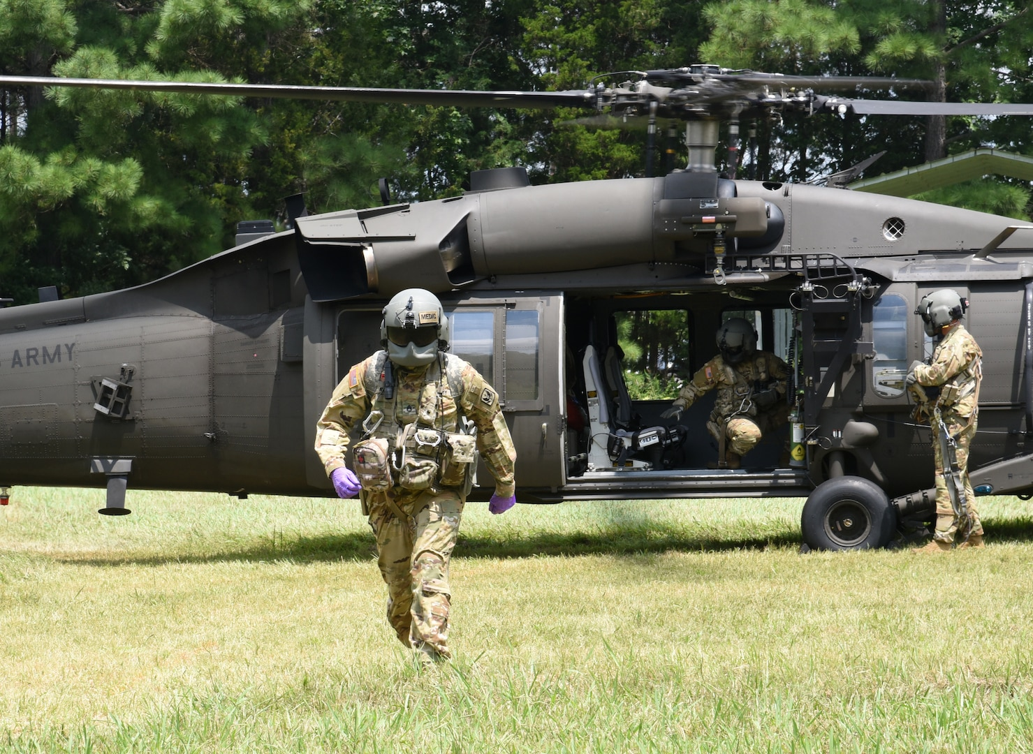 1-169th conducts medical evacuation training during AT