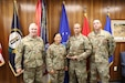 Brig. Gen. Haldane B. Lamberton, Kentucky's Adjutant General, presented Lt. Col. Noy Boriboune, commander of the 41st Civil Support Team (CST) an award for their outstanding performance on their intense security inspections in a ceremony on Boone National Guard Center July 19. (U.S. Army photo by Spc. Harrison Moore)