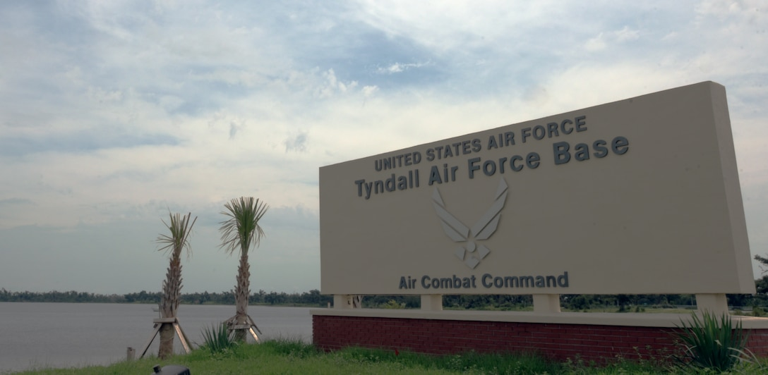 Tyndall AFB welcome sign