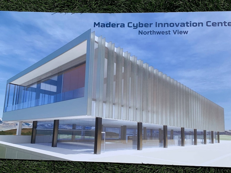 Artistic rendition of Madera Cyber Innovation Center.