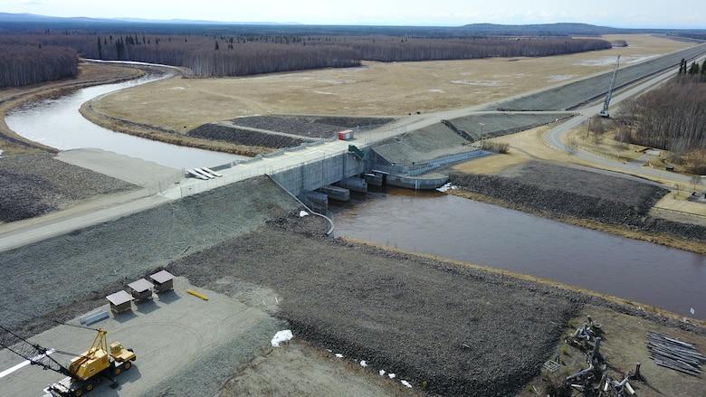 Moose Creek Dam and earthen levee