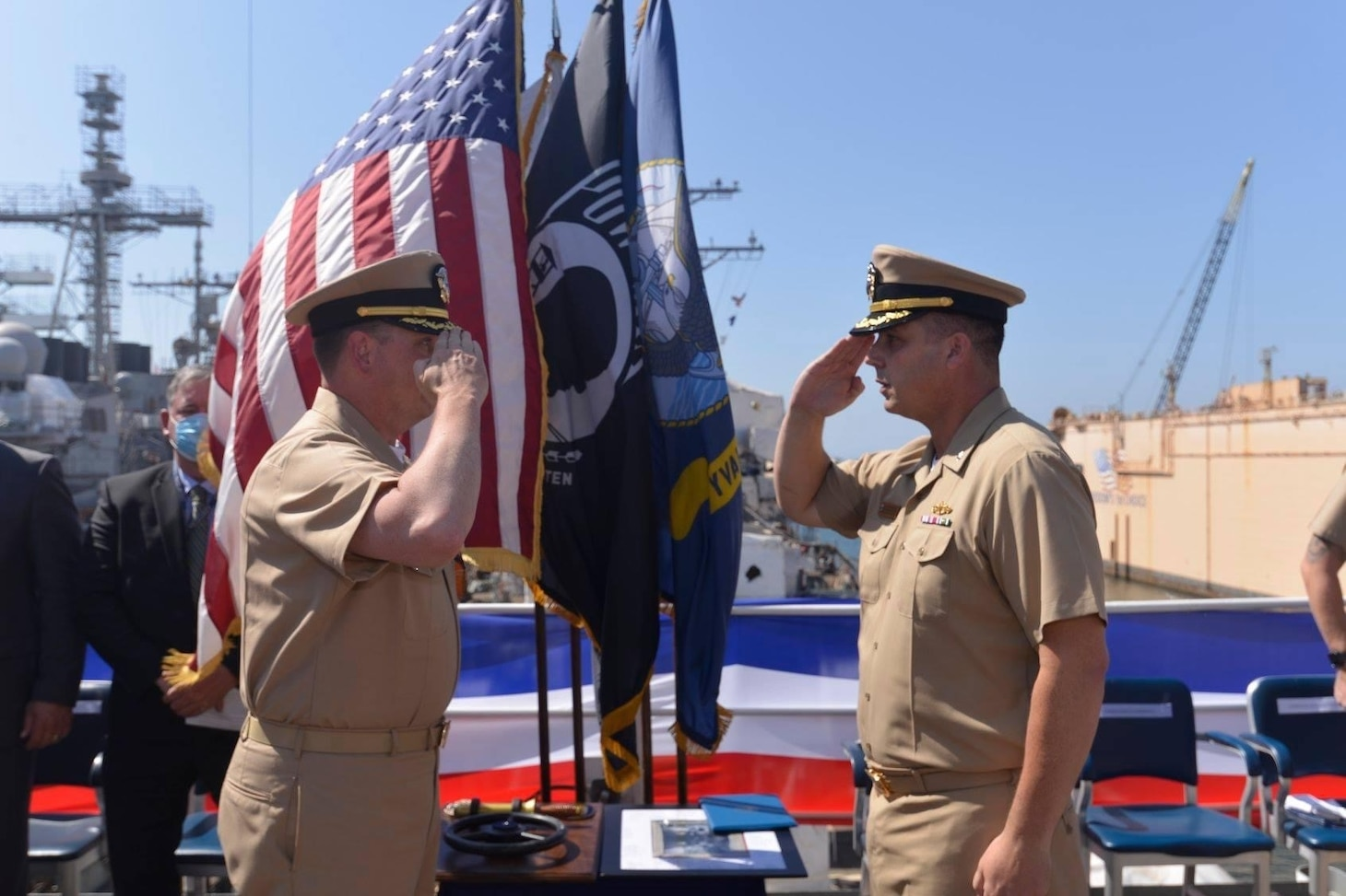 USS STETHEM holds 25th Commissioning Anniversary Ceremony and Change of Command