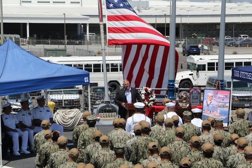 USS STETHEM Holds 36th Robert Dean Stethem Memorial Ceremony