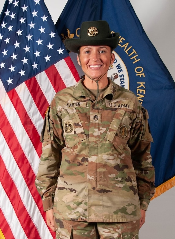 Kentucky history was made on Fort Jackson in South Carolina when Staff Sgt. Mary Carter became the first Kentucky National Guard drill sergeant on June 25, 2021.