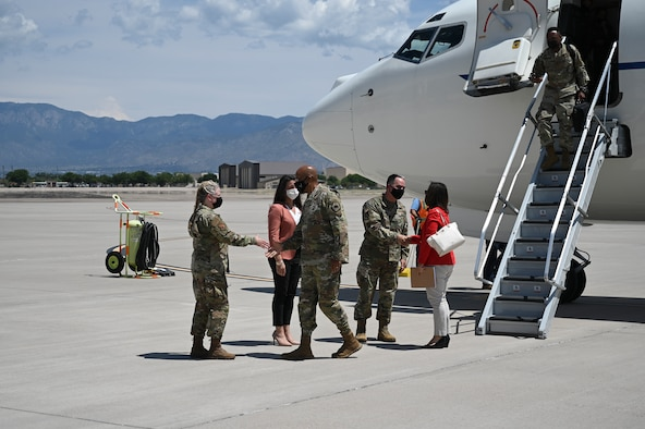 CSAF Visits Team Kirtland