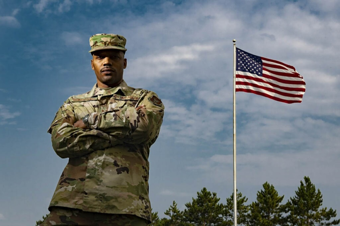 Staff Sgt. Bryan Randall, 434th Force Support Squadron personnel specialist, poses for a photo at Grissom Air Reserve Base, Indiana, August 8, 2021.