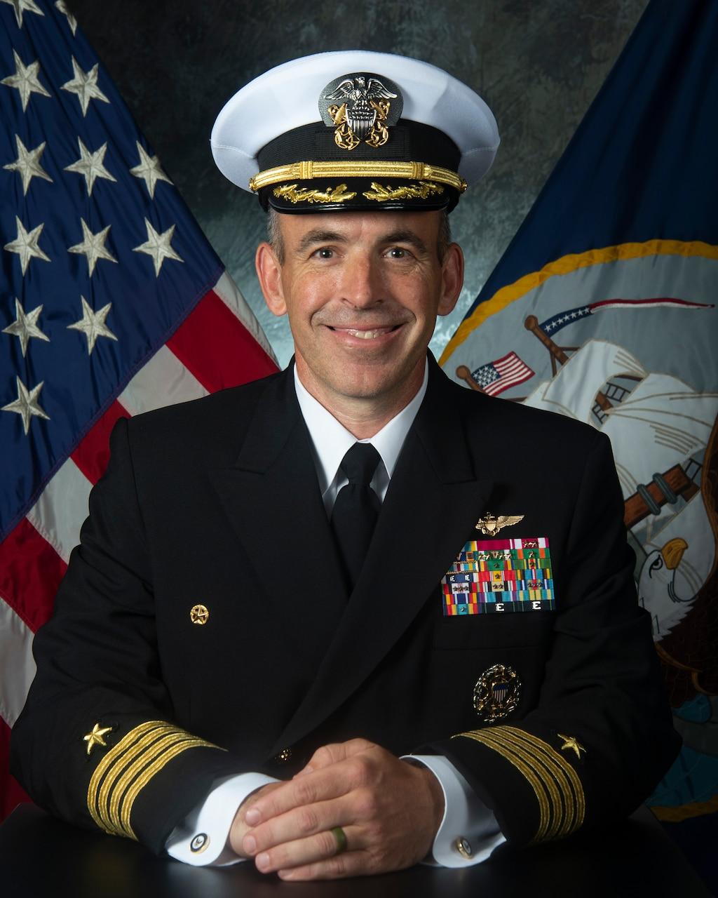 Studio portrait of Capt. Gavin Duff, Commanding Officer, USS Harry S. Truman (CVN 75).