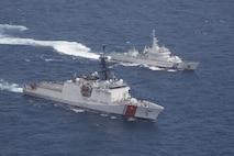 U.S., Japan Coast Guards train together in East China Sea