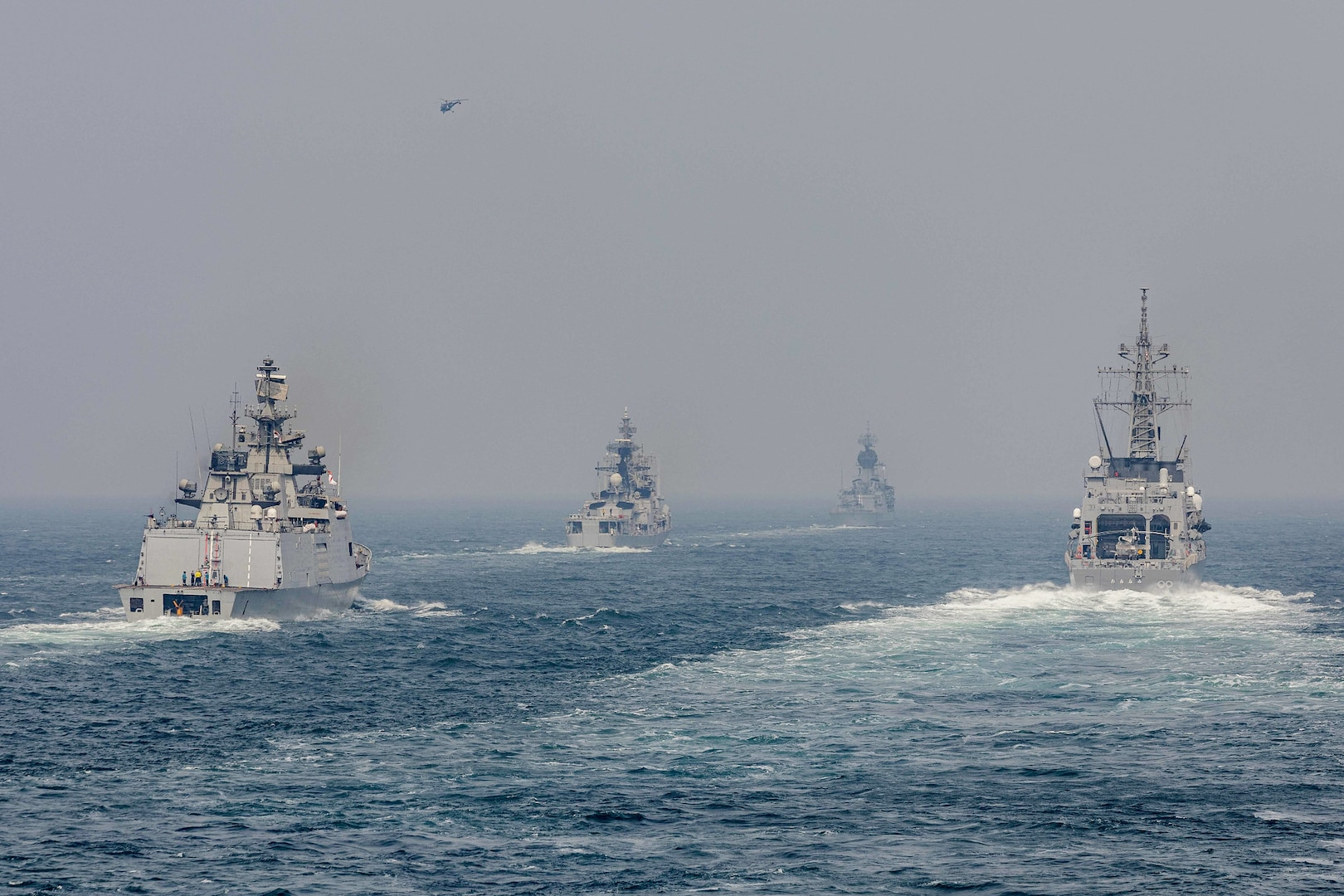 Australia, India, Japan, and U.S. kick off exercise MALABAR 2021