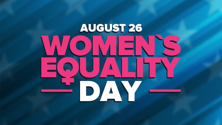 Women's Equality Day is celebrated annually in the United States on August 26, commemorating the passage of the 19th Amendment to the U.S. Constitution which granted women the right to vote. (U.S. Air Force graphic by David Perry)