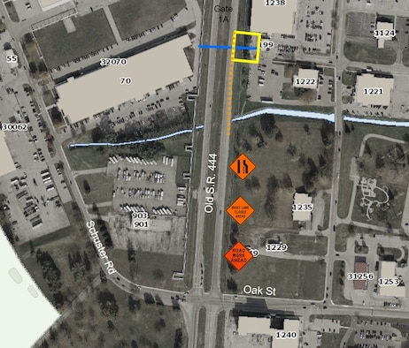 Lane closure planned at Gate 1A