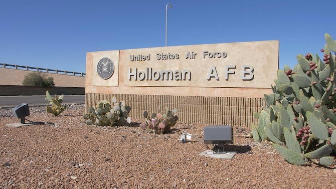 Photo of Holloman Air Force Base gate sign