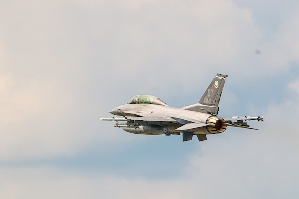 An F-16D equipped with Lockheed Martin's Legion Pod tests the infrared search and track technology during exercise Northern Lightning 21. (U.S. Air National Guard Photo by PAO Kristen Keehan)