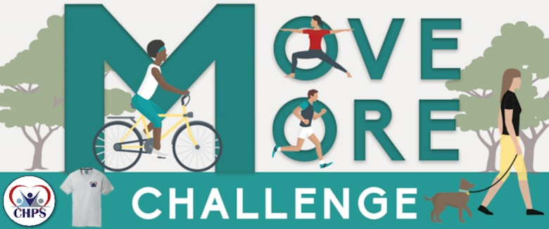 Improve the way you feel and function by participating in the Air Force Move More Challenge. During September and October, Civilian Health Promotion Services will promote and conduct its Move More physical activity challenge. Being physically active is essential to prevent and reduce risks of many diseases and improve physical and mental health. Participants will receive a FREE CHPS performance training t-shirt at the initial check-in with CHPS staff.