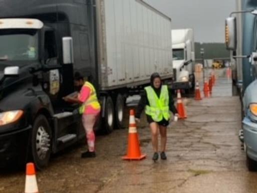 DLA Distribution Expeditionary Team on site following IDA