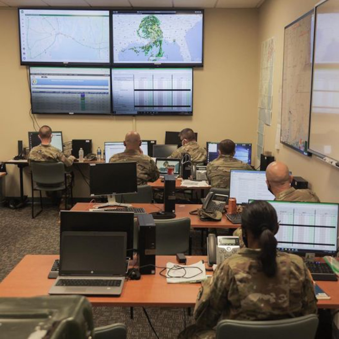Alabama National Guard Soldiers with the 711th Combat Sustainment Support Battalion in Mobile have been hard at work through Hurricane Ida watching reports, satellites and cameras and coordinating relief efforts with the Alabama Emergency Response Agency.