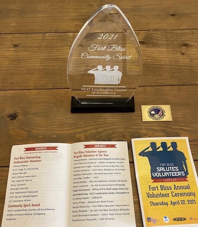 Ft Bliss Community Spirit Award
