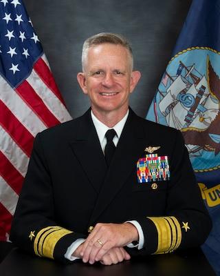 Official studio portrait of Vice Adm. Daniel Dwyer, Commander U.S. Second Fleet