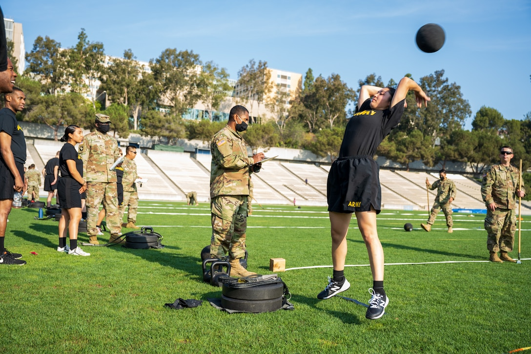 311th ESC Conducts ACFT at UCLA