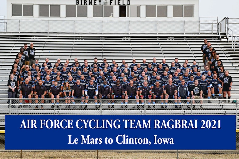 The Air Force Cycling Team. (Courtesy photo)
