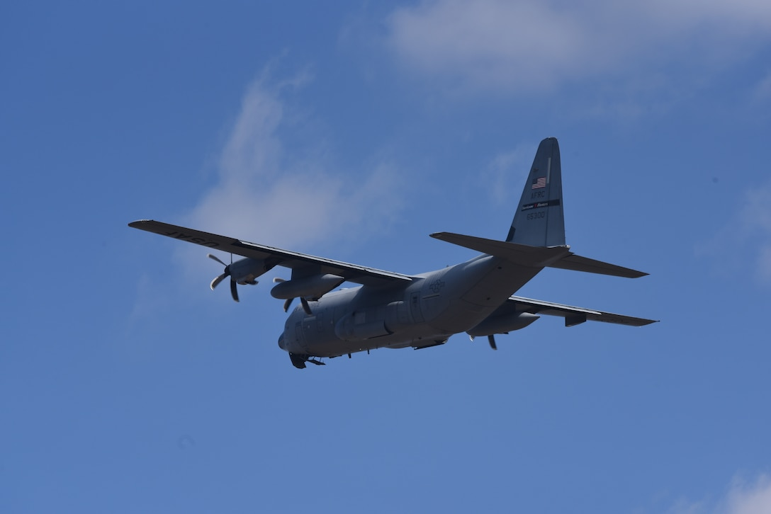 Members of the 53rd Weather Reconnaissance Squadron, or Air Force Reserve Hurricane Hunters, took off Feb. 1, 2021, for their fourth winter storm mission of the 2020-2021 season, while also supporting the atmospheric river missions in Nevada. The 53rd WRS provides weather data to departments of the National Oceanic and Atmospheric Administration for three types of weather missions: tropical cyclones, atmospheric rivers, and winter storm missions. (U.S. Air Force photo by Jessica L. Kendziorek)