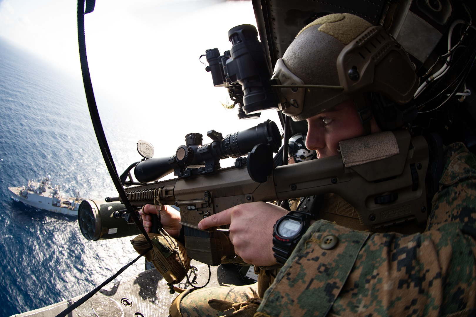 Marines embarked aboard USS America (LHA 6) conduct VBSS training.