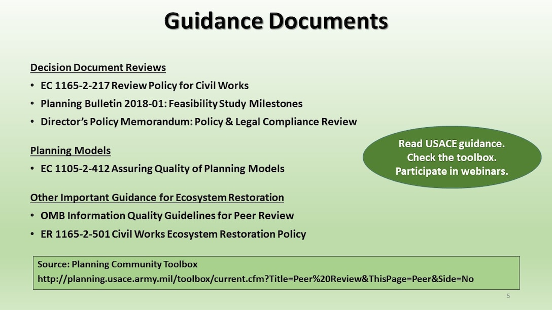 National Ecosystem Restoration Overview Slideshow