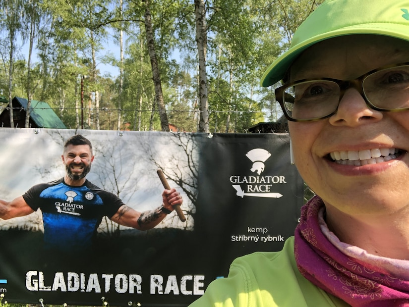 MacAllister enjoys some time outside the lab running in the Hradec Forest across from her apartment near the research center at the Czech Republic's University of Defense, where she is working as part of the U.S. Army's Engineer and Scientist Exchange Program.