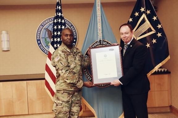 DTRA Receives Second Highest Unit Award