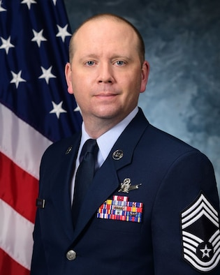CMSgt. Frederick E. Jaehnig's official photo.