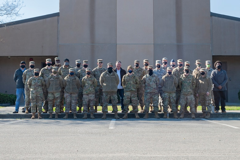 Photo of Airmen posing together