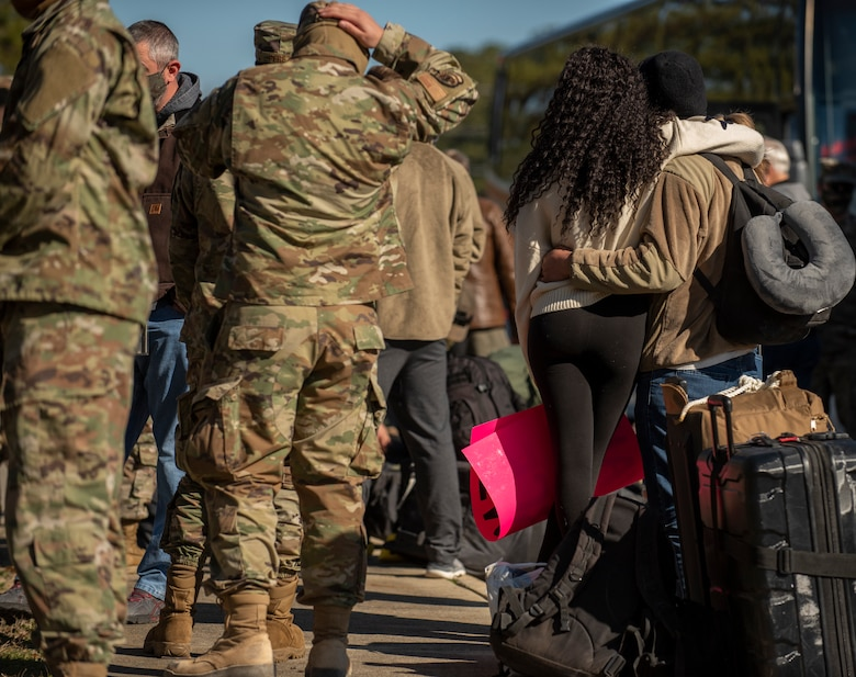 Team Seymour Airmen return to Seymour Johnson Air Force Base, Jan. 13, 2021, after being deployed.