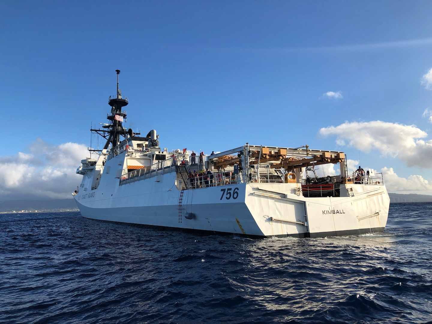 Coast Guard Cutter Kimball joins search for missing mariner off Guam